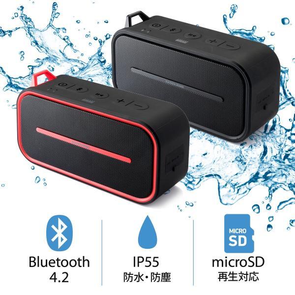 Bluetoothスピーカー 防水 ワイヤレススピーカー ブルートゥース iPhone スマホ 高音質 大音量 重低音 ポータブル(即納)|sanwadirect|17