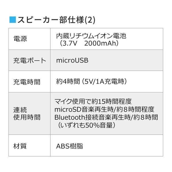 拡声器 ハンズフリー ポータブル スマホ Bluetooth ポータブル 手ぶら(即納)|sanwadirect|15