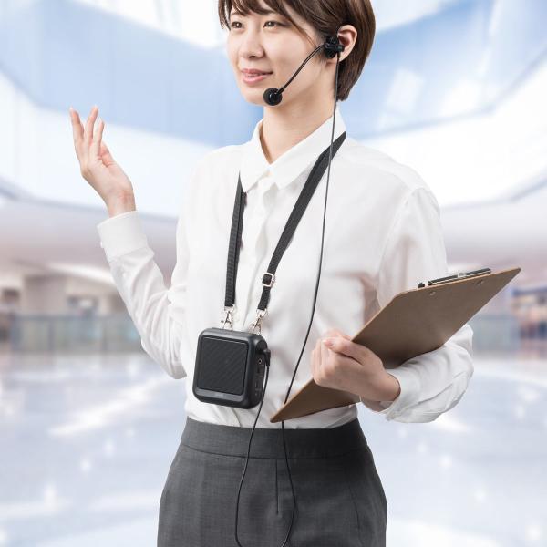 拡声器 ハンズフリー ポータブル スマホ Bluetooth ポータブル 手ぶら(即納)|sanwadirect|19