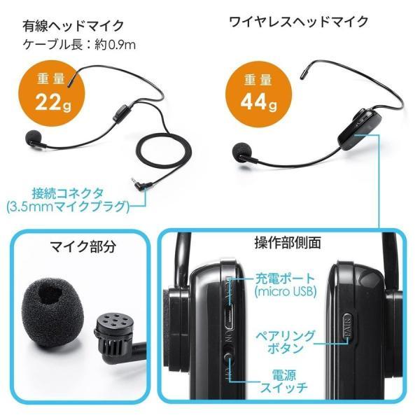 拡声器 ハンズフリー ワイヤレス 小型 ポータブル マイク ハンド フリー 手ぶら 2人同時対応(即納) sanwadirect 16