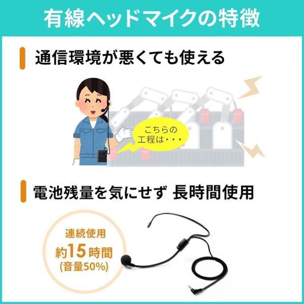 拡声器 ハンズフリー ワイヤレス 小型 ポータブル マイク ハンド フリー 手ぶら 2人同時対応(即納) sanwadirect 10