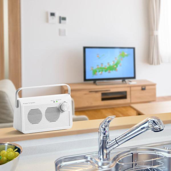 テレビスピーカー 手元スピーカー 耳元 ワイヤレス テレビ用 TV 充電式 高齢者の方(即納)|sanwadirect|19