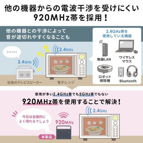 テレビスピーカー 手元スピーカー 耳元 ワイヤレス テレビ用 TV 充電式 高齢者の方(即納)|sanwadirect|05