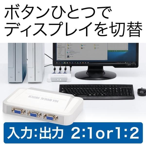 ディスプレイ切替器 2ポート モニター 切替器 VGA モニタ