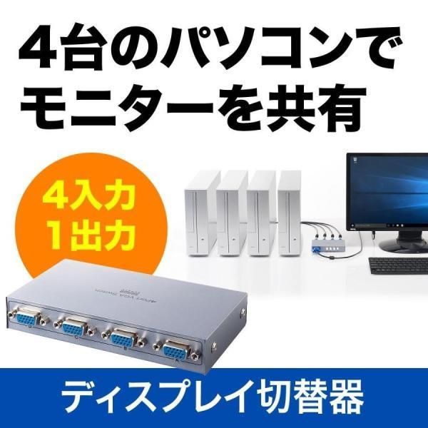 ディスプレイ切替器 VGA切替器 ミニD-sub15ピン 4台用