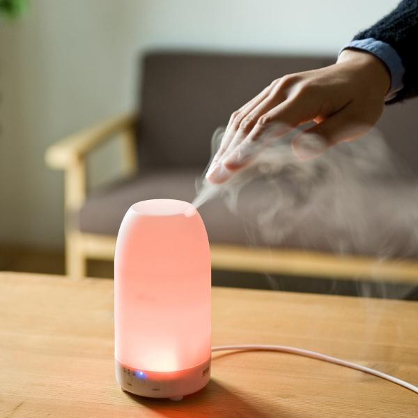 加湿器 卓上 アロマ加湿器 超音波  アロマディフューザー LED おしゃれ(即納)|sanwadirect|14