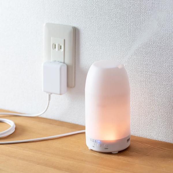 加湿器 卓上 アロマ加湿器 超音波  アロマディフューザー LED おしゃれ(即納)|sanwadirect|16