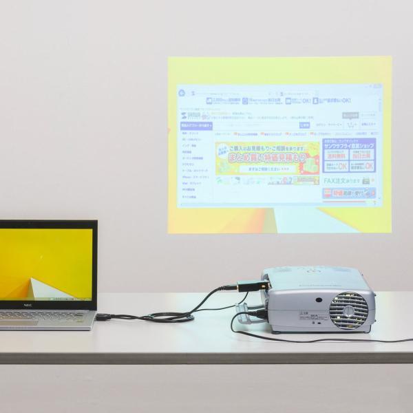 HDMI - VGA変換アダプタ HDMI ミニD-sub15ピン変換 音声出力対応 ステレオミニケーブル付(即納)|sanwadirect|11