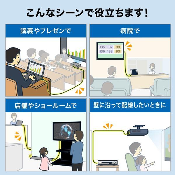 HDMIケーブル 10m 4K対応 長尺 イコライザ内蔵 4K/60Hz 18Gbps伝送対応 HDMI2.0準拠品(即納) sanwadirect 03