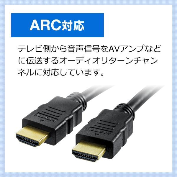 HDMIケーブル 0.6m 4K 3D フルハイビジョン対応 PS4 対応(即納)|sanwadirect|06