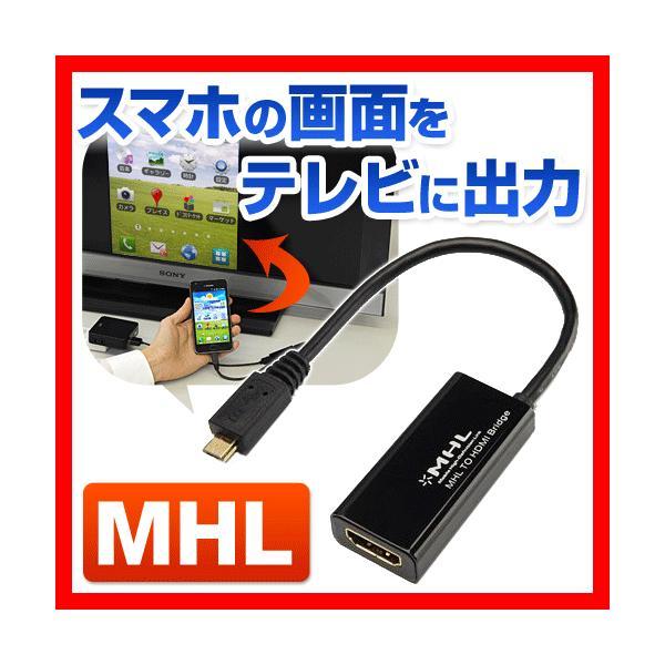 MHL HDMI 変換アダプタ ケーブル スマホの画面をテレビに映せる|sanwadirect