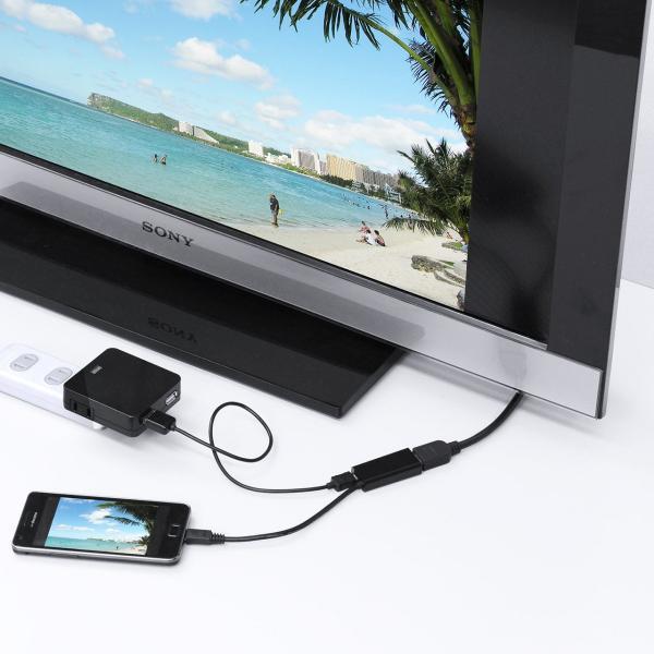 MHL HDMI 変換アダプタ ケーブル スマホの画面をテレビに映せる|sanwadirect|04
