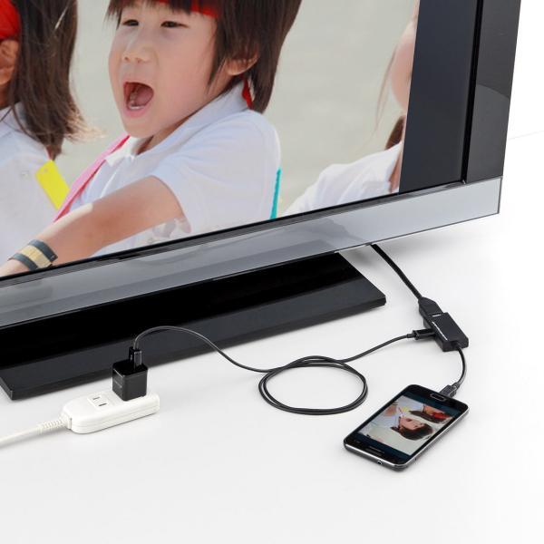 MHL HDMI 変換アダプタ ケーブル リモコン対応(即納)|sanwadirect|11