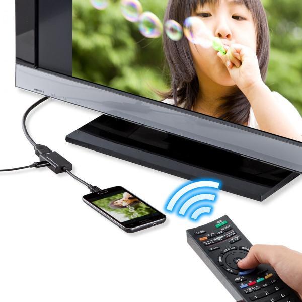 MHL HDMI 変換アダプタ ケーブル リモコン対応(即納)|sanwadirect|08