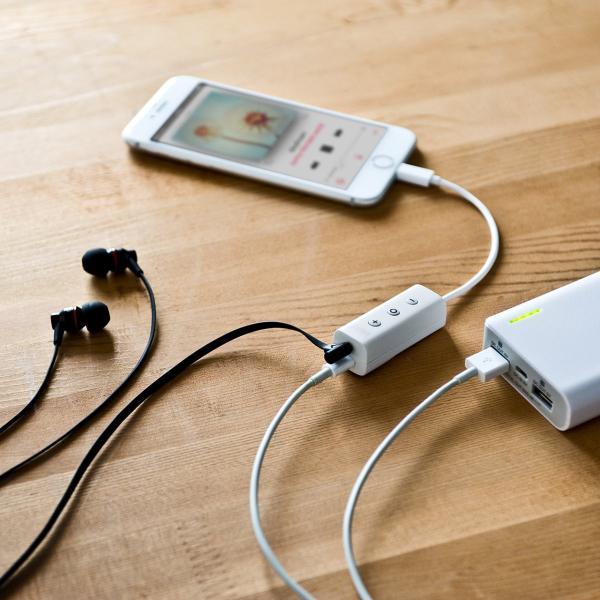 ライトニング イヤホン iPhone7対応 充電ポート内蔵 MFi認証品(即納)|sanwadirect|15