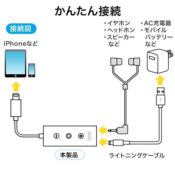 ライトニング イヤホン iPhone7対応 充電ポート内蔵 MFi認証品(即納)|sanwadirect|07