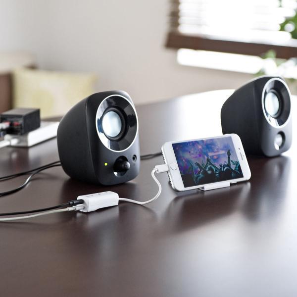 ライトニング イヤホン iPhone7対応 充電ポート内蔵 MFi認証品(即納)|sanwadirect|09