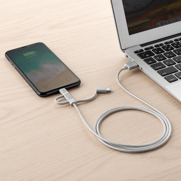 充電ケーブル iPhone スマホ 充電 タイプC マイクロUSB Type-C Lightning microUSB (即納)|sanwadirect|11