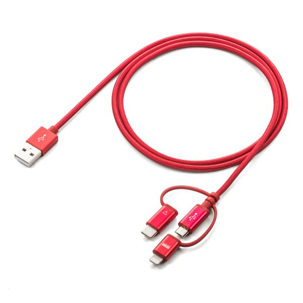 iPhone 充電ケーブル Lightning microUSB Type-C 3in1 USB 通信(即納)|sanwadirect|13