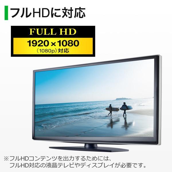 HDMI VGA 変換 アダプタ フルHD 1080P 対応 15cm(即納)|sanwadirect|05