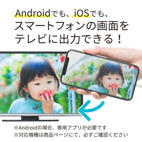 iPhone miracast対応スマホ から テレビ出力 HDMI 変換アダプタ フルHD ミラキャスト(即納)|sanwadirect|02