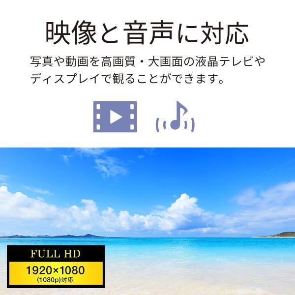 iPhone miracast対応スマホ から テレビ出力 HDMI 変換アダプタ フルHD ミラキャスト(即納)|sanwadirect|03