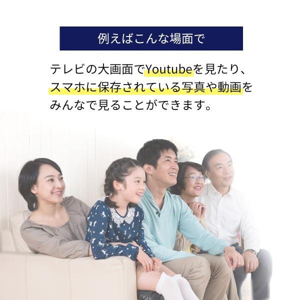iPhone miracast対応スマホ から テレビ出力 HDMI 変換アダプタ フルHD ミラキャスト(即納)|sanwadirect|04