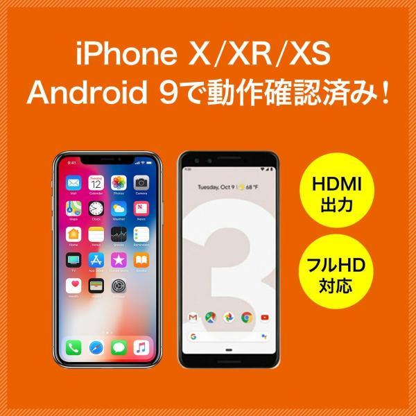 iPhone miracast対応スマホ から テレビ出力 HDMI 変換アダプタ フルHD ミラキャスト(即納)|sanwadirect|09