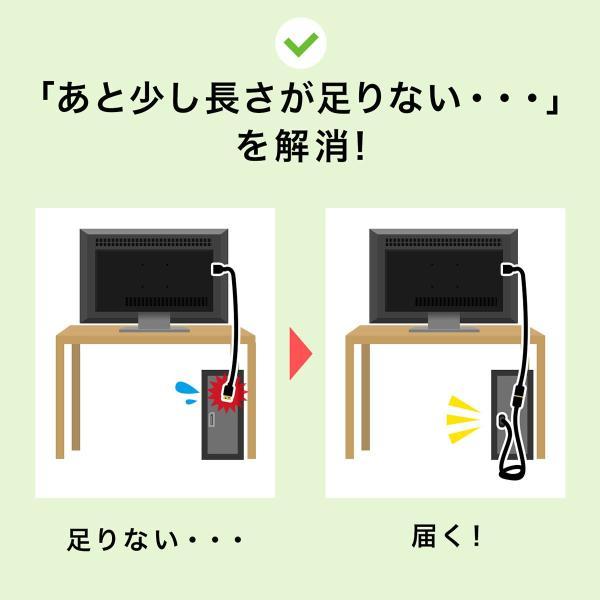ディスプレイポート DisplayPort ケーブル 延長ケーブル モニター ディスプレイ 延長 4K/60Hz対応 2m(即納) sanwadirect 04
