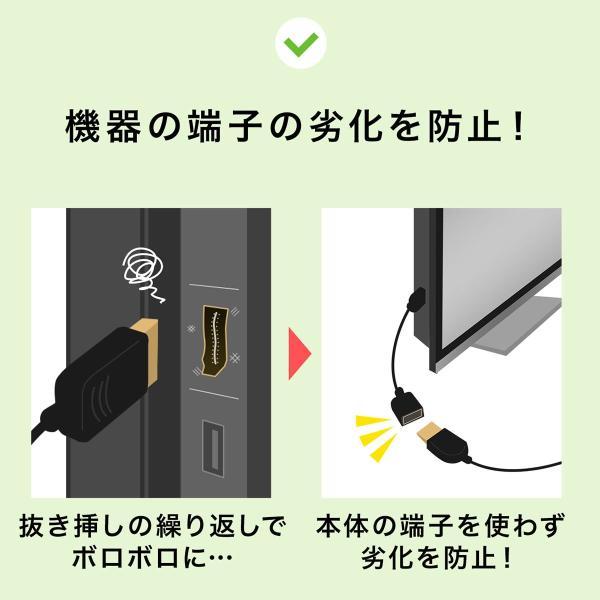 ディスプレイポート DisplayPort ケーブル 延長ケーブル モニター ディスプレイ 延長 4K/60Hz対応 2m(即納) sanwadirect 06