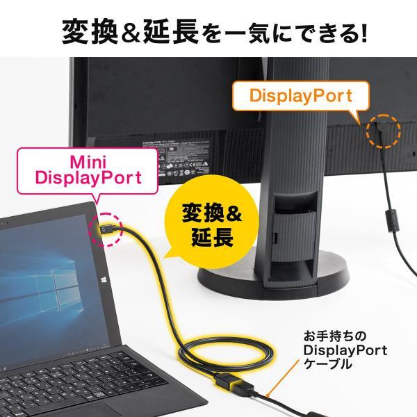 Mini DisplayPort 変換ケーブル アダプタ ケーブル Thunderbolt Display Port 画面 複製 拡張 1m(即納) sanwadirect 02