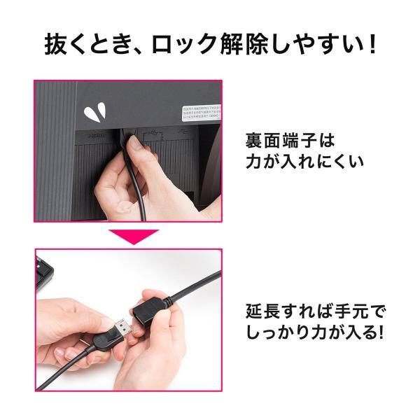 Mini DisplayPort 変換ケーブル アダプタ ケーブル Thunderbolt Display Port 画面 複製 拡張 1m(即納) sanwadirect 04