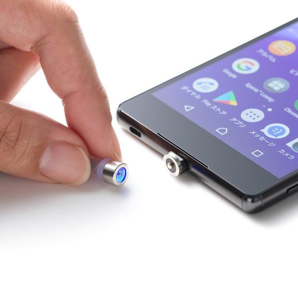 マグネット 充電ケーブル マイクロUSB スマホ 充電 micro USBケーブル(即納)|sanwadirect|18