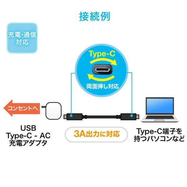 Type-C USB ケーブル USB TypeC ケーブル タイプc 充電ケーブル 2m Gen1(即納)|sanwadirect|03