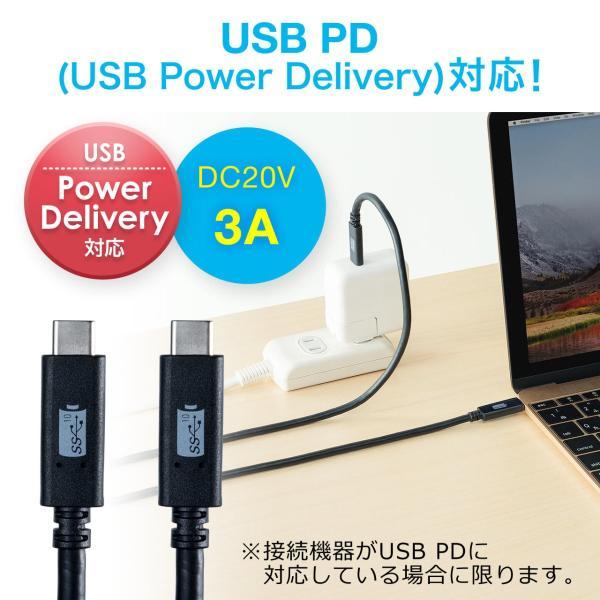 Type-C USB ケーブル USB TypeC ケーブル タイプc 充電ケーブル 2m Gen1(即納)|sanwadirect|04