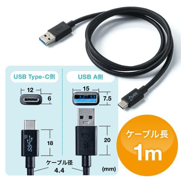 Type-C USB ケーブル USB TypeC ケーブル タイプc 充電ケーブル 1m Gen2(即納) sanwadirect 09