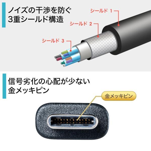 Type-C USB ケーブル USB TypeC ケーブル タイプc 充電ケーブル 1m Gen2(即納) sanwadirect 04