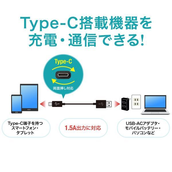 USB Type-C ケーブル 充電 Type C 1m(即納) sanwadirect 02