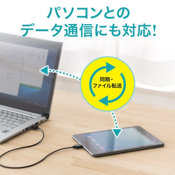 USB Type-C ケーブル 充電 Type C 1m(即納) sanwadirect 04