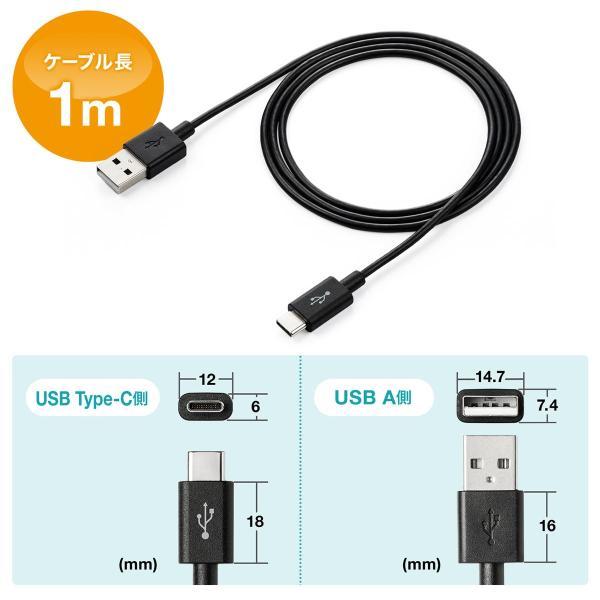 USB Type-C ケーブル 充電 Type C 1m(即納) sanwadirect 07