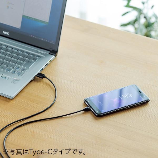 【2本セット】充電ケーブル マグネット式 アンドロイド Android スマホ 充電器 マイクロUSB micro USBケーブル 急速充電 通信 1m(即納) sanwadirect 14