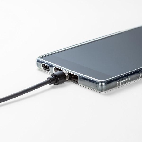 【2本セット】充電ケーブル マグネット式 アンドロイド Android スマホ 充電器 マイクロUSB micro USBケーブル 急速充電 通信 1m(即納) sanwadirect 15