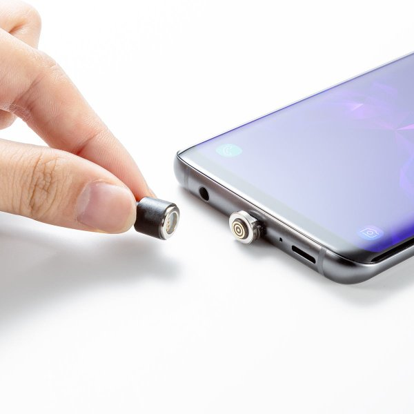 【2本セット】充電ケーブル マグネット式 アンドロイド Android スマホ 充電器Type-c  USBケーブル 急速充電 通信 1m(即納)|sanwadirect|19