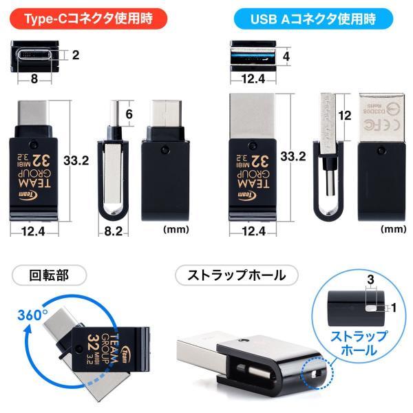 USBメモリ Type-C 32GB タイプC USB3.1 Gen1(即納) sanwadirect 07