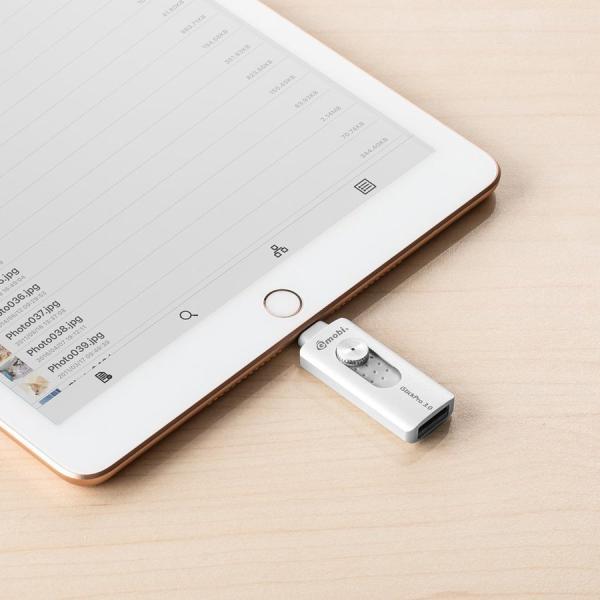 iPhone USBメモリ iPad 128GB Lightning MFi認証 バックアップ データ転送 iStickPro|sanwadirect|13
