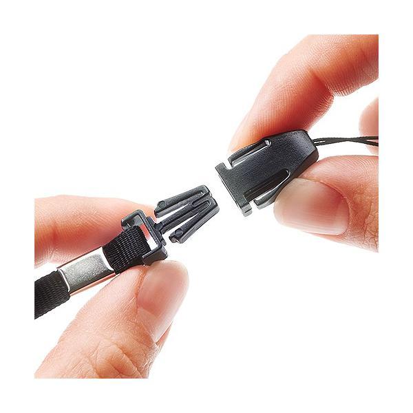 USBメモリ 4GB 紛失防止 ストラップ付き キャップレス ホワイト(即納)|sanwadirect|09