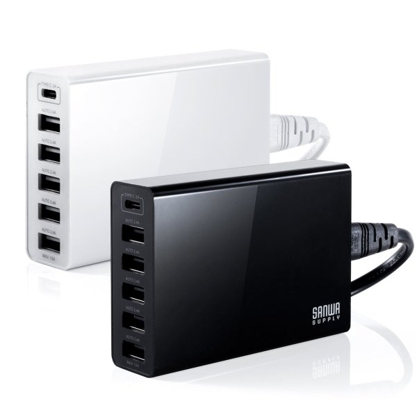 USB充電器 6ポート スマホ 充電器 ACアダプター Type-Cポート 急速充電 iPhone iPad コンセント(即納)|sanwadirect|19