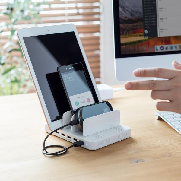 iPhone 充電スタンド スマホ 充電器 タブレット 6A 36W(即納) sanwadirect 16