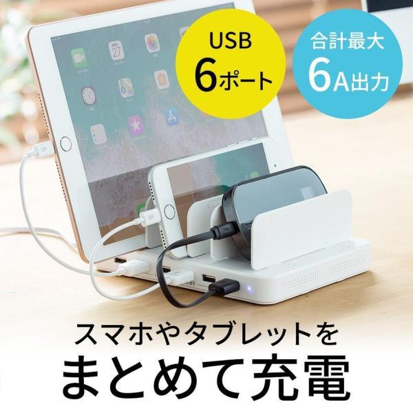 iPhone 充電スタンド スマホ 充電器 タブレット 6A 36W(即納) sanwadirect 18