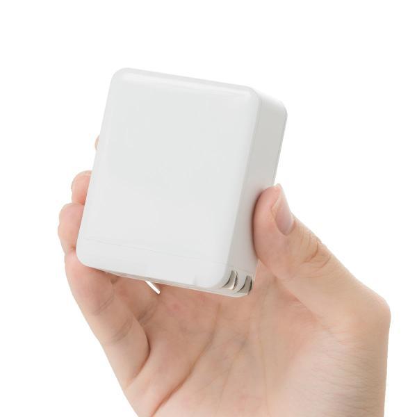 USB充電器 3ポート ACアダプター スマホ 充電 合計4.8A 出張 旅行 コンパクト(即納)|sanwadirect|16